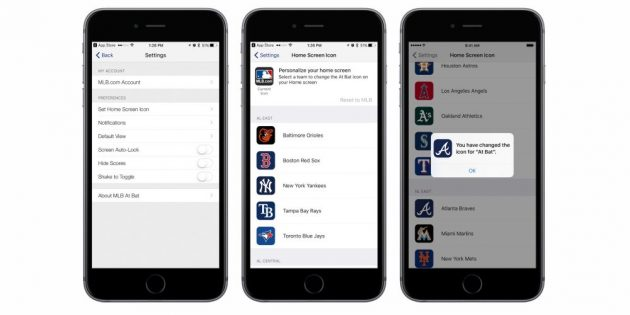 App-Icon wechseln iOS 10.3