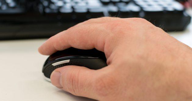 ms wireless desktop 3050 mouse size