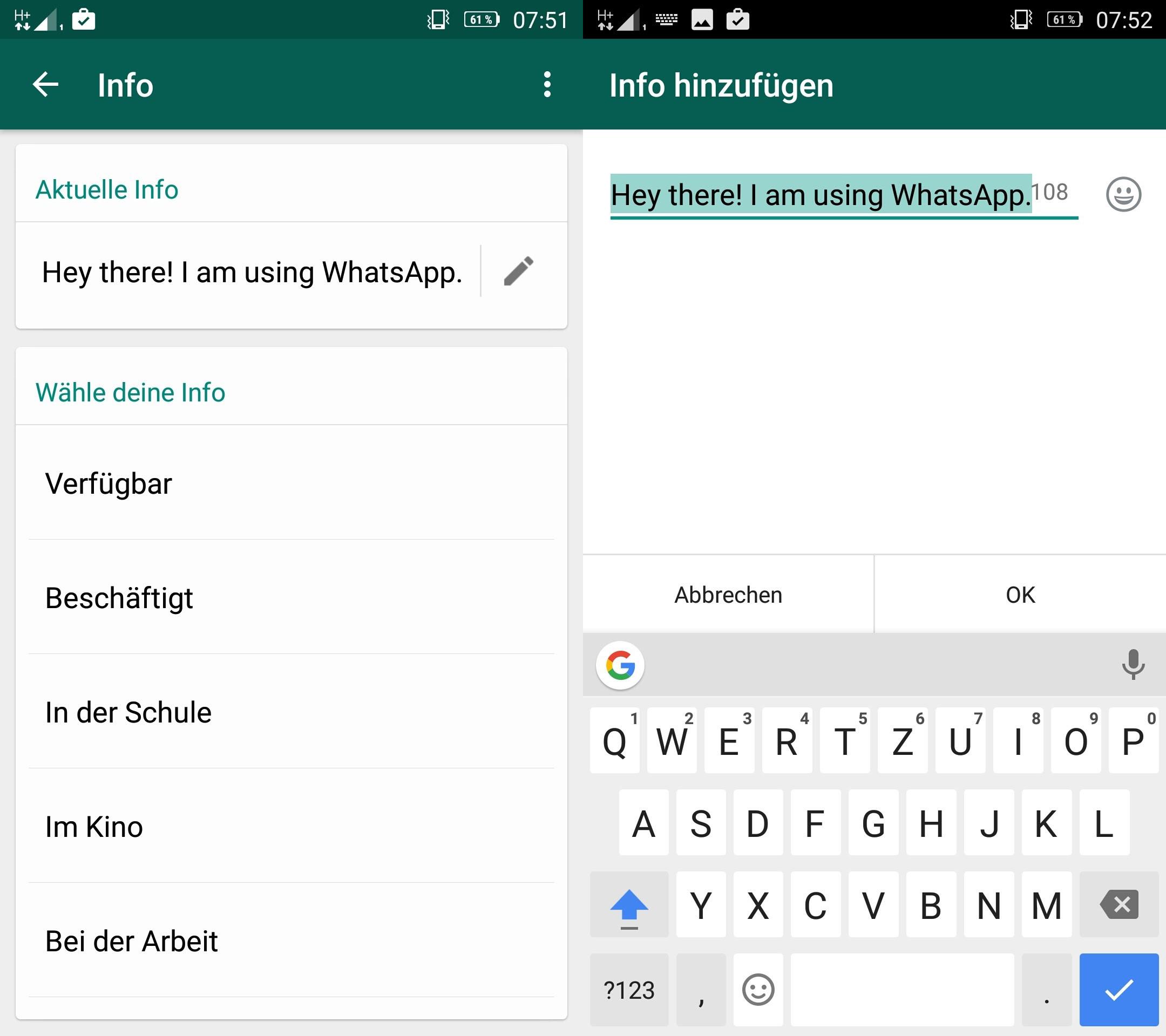 Whatsapp Info Sprüche