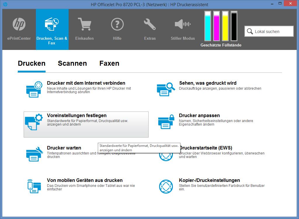 Multifunktionsdrucker HP OfficeJet Pro 8725 im Test