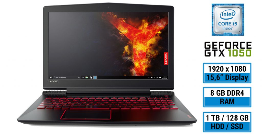 gaming notebook unter 1000 euro im test lenovo legion y520 15ikbn. Black Bedroom Furniture Sets. Home Design Ideas