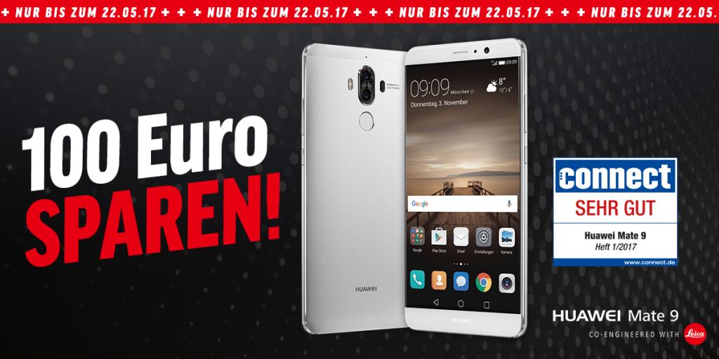 Bis zum 22.05.: 100 Euro beim Kauf eines Huawei Mate 9 sparen