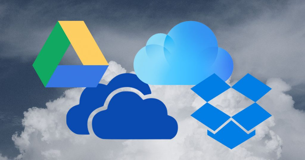 Cloud Storage Vergleich 2017: Google Drive vs. Onedrive vs. Dropbox vs. iCloud