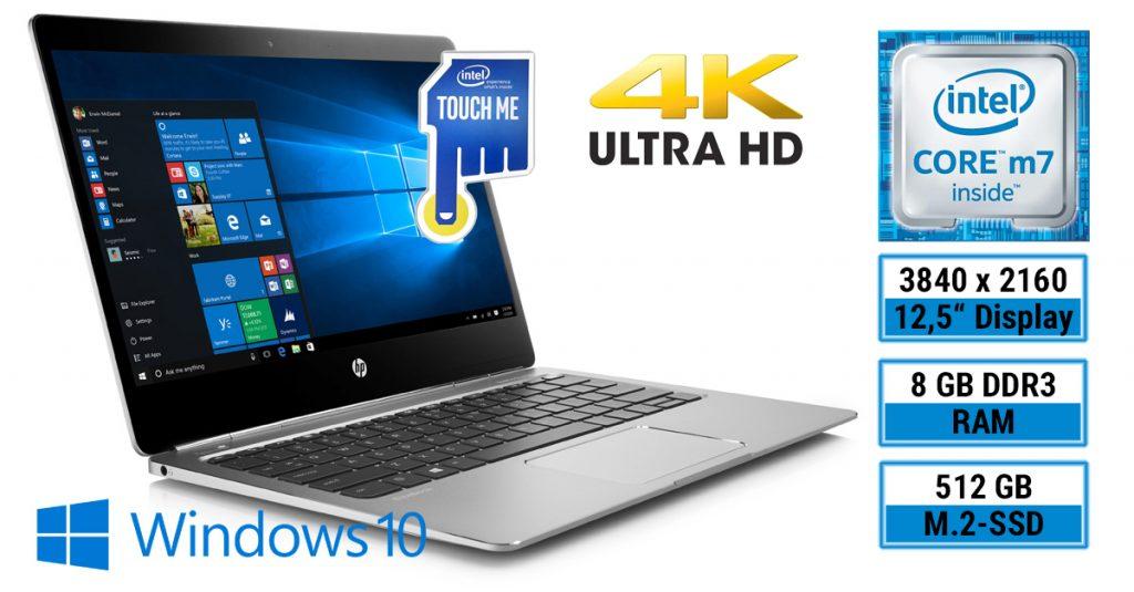 HP EliteBook Folio G1 Z2U98ES: Flaches Ultrabook mit UHD-Touchdisplay im Test
