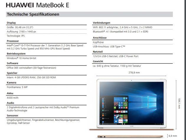 Huawei-Matebook-E-2in1-specs