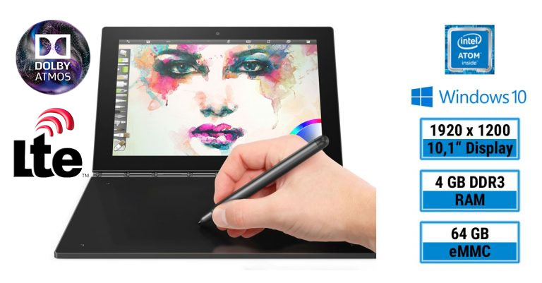 Test: Lenovo Yoga Book YB1-X91L – neuartiges 2-in-1-Tablet mit Real Pen und Halo Keyboard