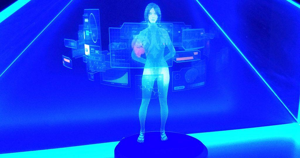 Selbstgebaut: Microsofts Cortana als DIY-Hologramm