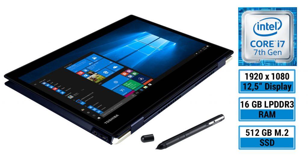 Test: Toshiba Portégé X20W-D-111 – das weltweit flachste und leichteste 2-in-1 Business-Notebook