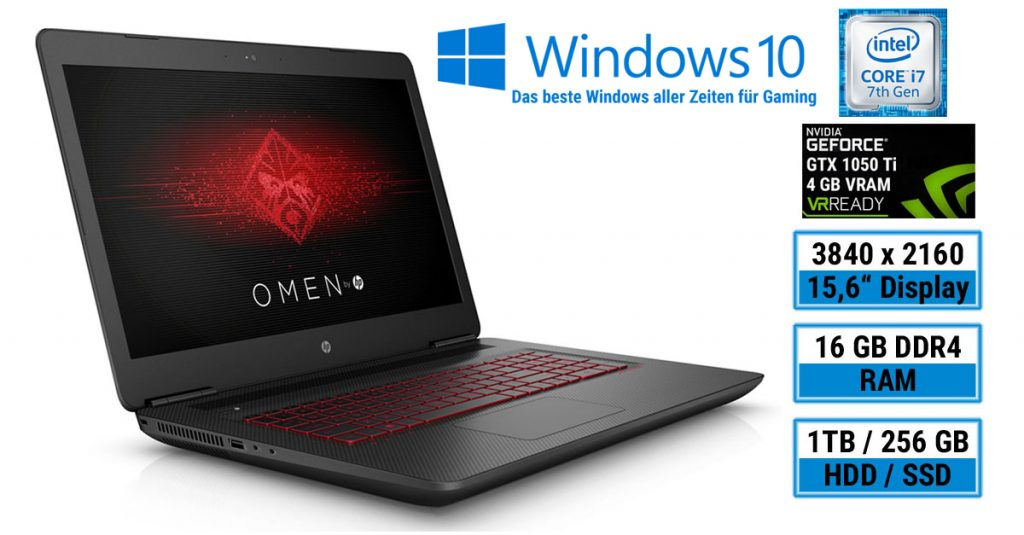OMEN by HP 15-ax204ng – Gaming-Notebook für den Einsteiger mit 15,6 Zoll UHD-Display