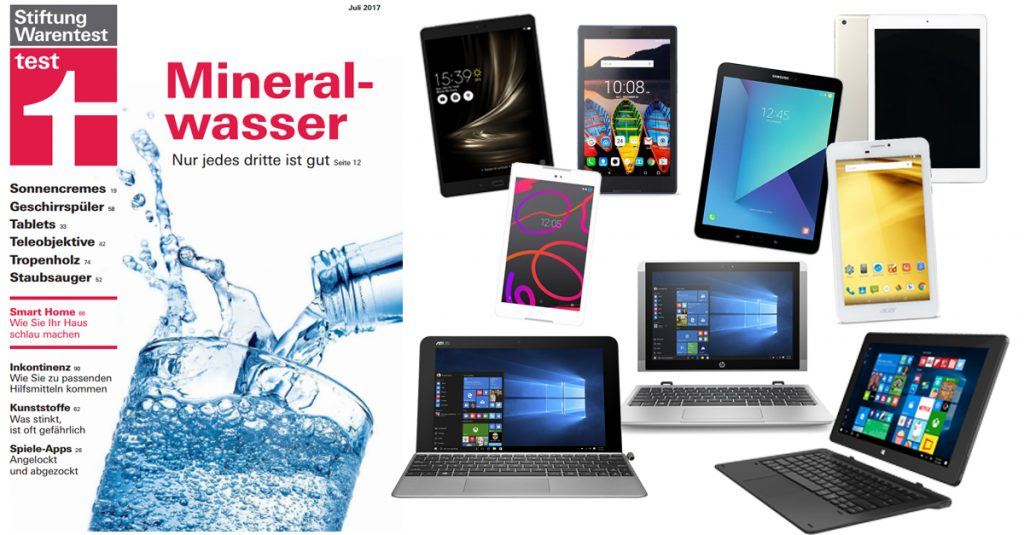 Stiftung Warentest 7/2017 – 17 Tablets im Check