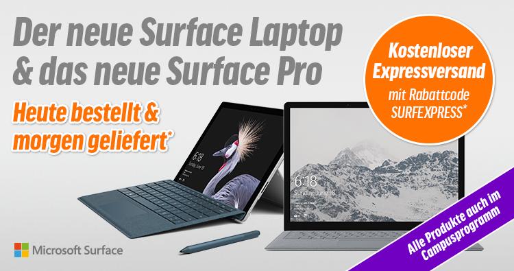 Microsoft Surface: Sichert euch euer neues Surface pünktlich zum Marktstart!