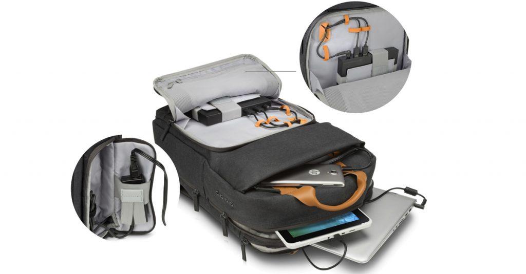 HP Powerup Backpack – Rucksack mit integriertem Akku lädt unterwegs Notebook auf