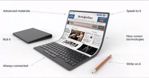Lenovo faltbare Displays