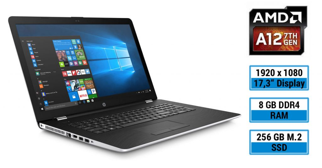 Test: HP 17-ak029ng – Multimedia-Notebook mit großem Full HD-Display und AMD A12-APU