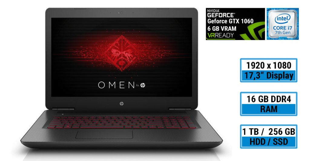 Test: HP OMEN 17-w202ng Gaming-Notebook mit Full HD-Display und schneller Hardware