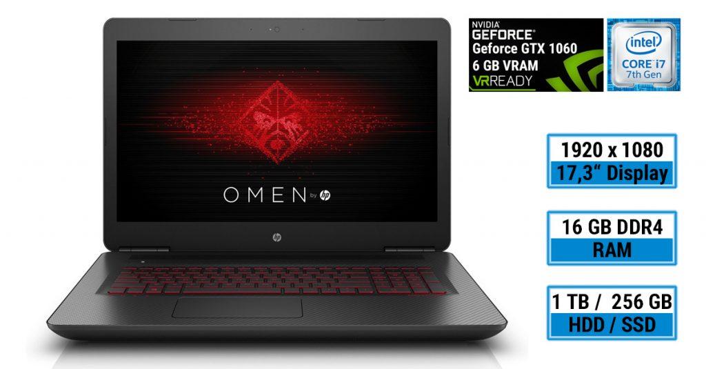 Test: HP OMEN 17-w202ng Gaming-Notebook mit Full HD-Display und schneller Hardware