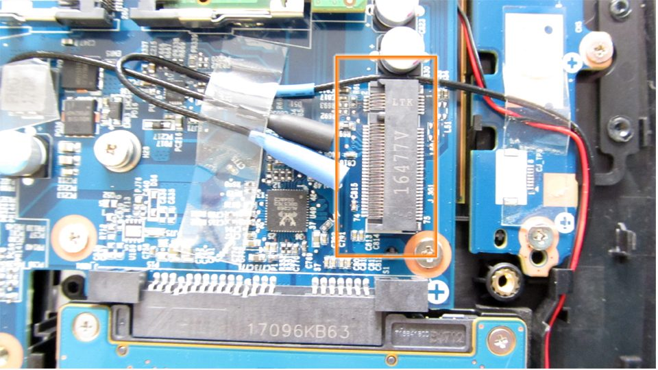 Freier M.2-Steckplatz für ein LTE-Modul