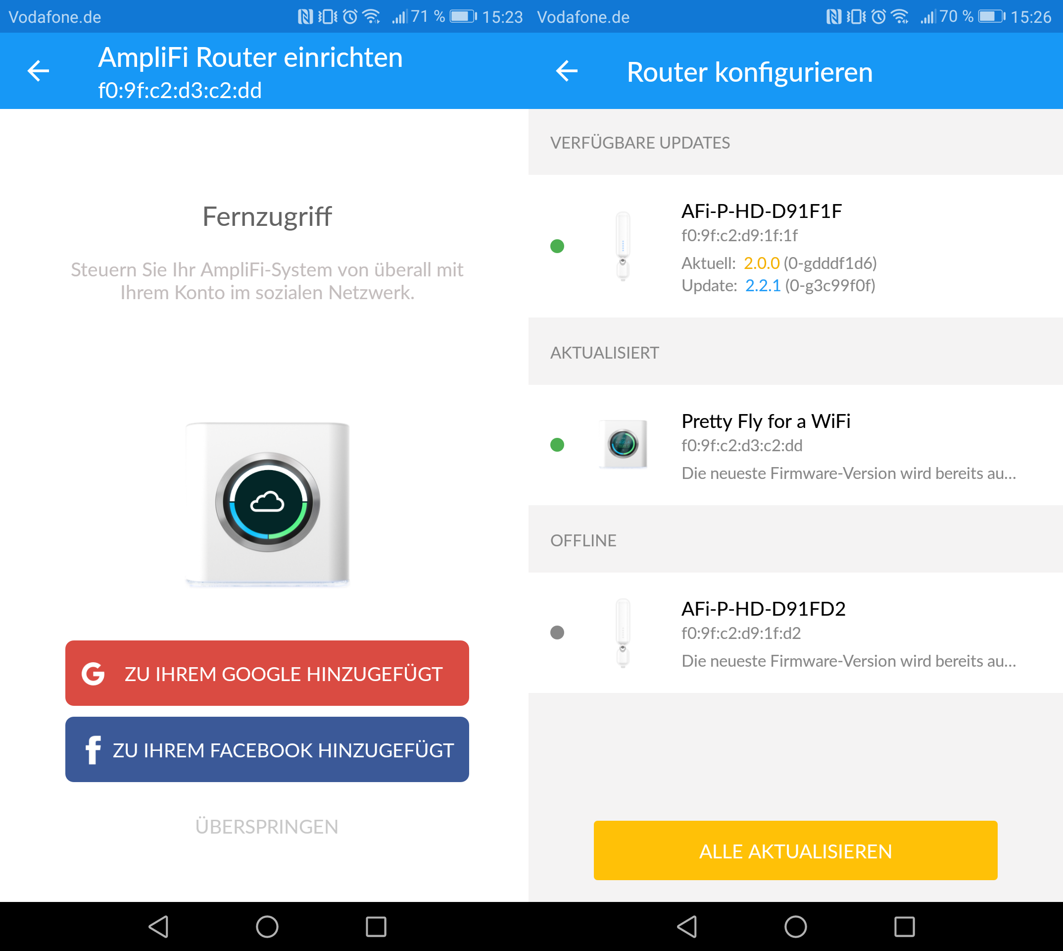ubiquiti amplifi hd im test dieses mesh system geht app. Black Bedroom Furniture Sets. Home Design Ideas