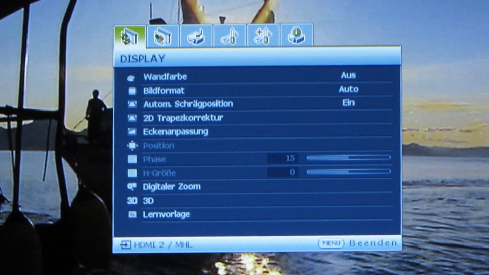 Benq MH741 Settings_1