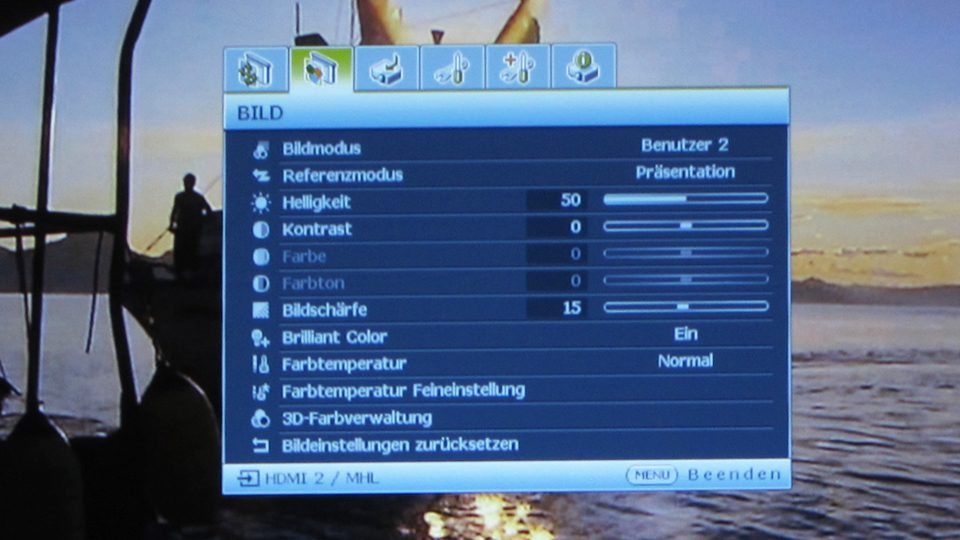 Benq MH741 Settings_2