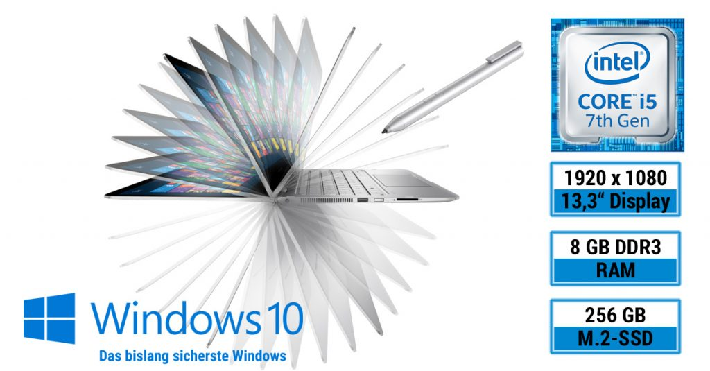 HP Spectre x360 13-ac000ng – Convertible-Notebook mit Active Pen im Test
