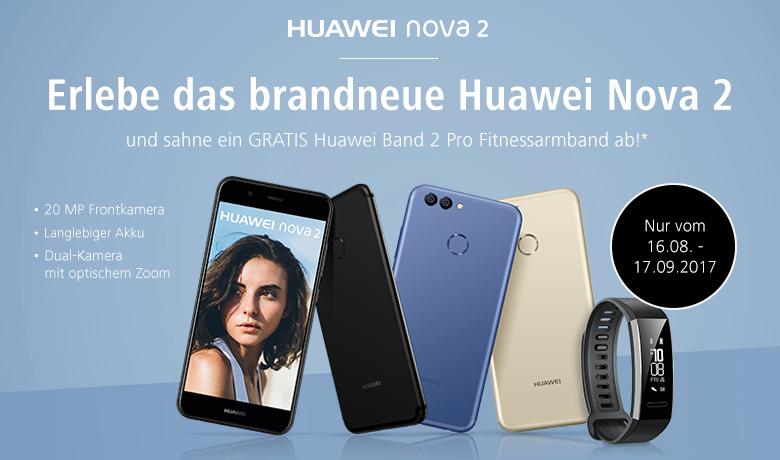 Hol Dir dein Huawei Nova 2 mit gratis Huawei Band 2 Pro Fitnessarmband