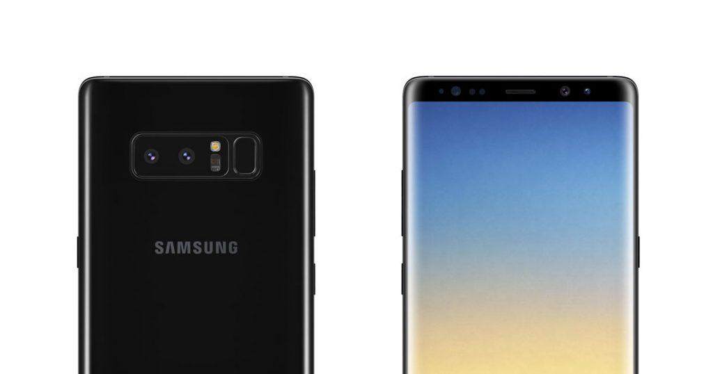 Samsung Galaxy Note 8: Neue Renderbilder und Details zur Dual-Kamera