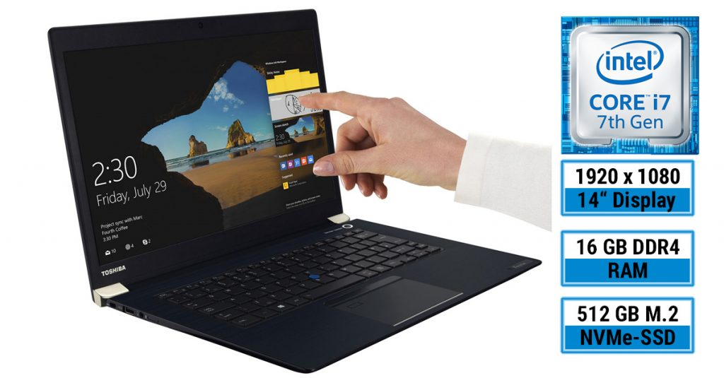 Toshiba Tecra X40-D – Business-Ultrabook mit 14 Zoll Touchdisplay im Test
