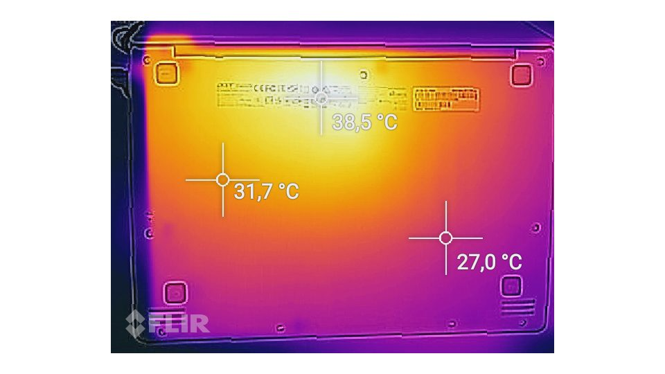 Acer Swift 1 SF113-31-P63H Hitze_2