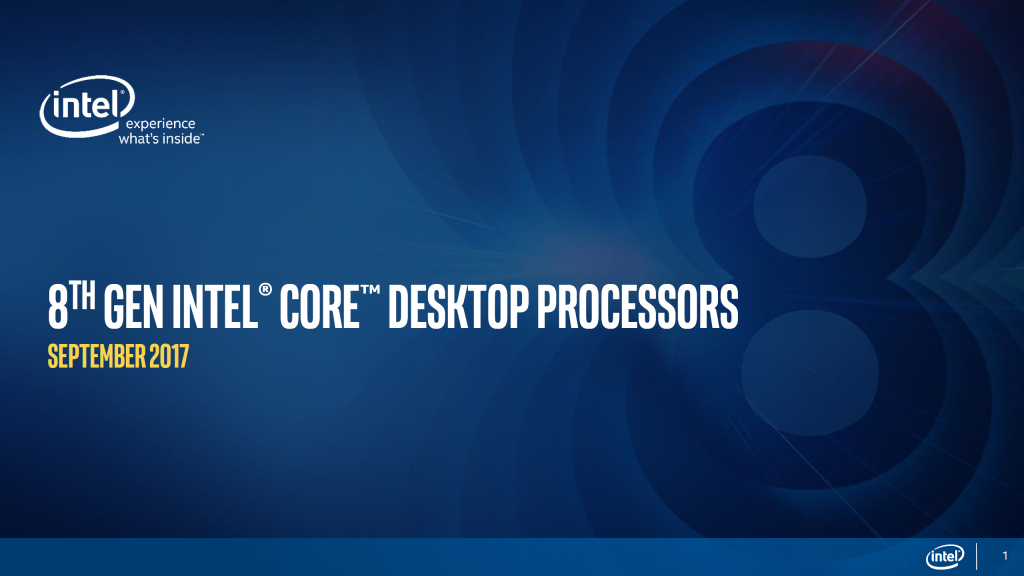 Intel Coffee Lake: 8. Generation der Core i Desktop-CPUs vorgestellt