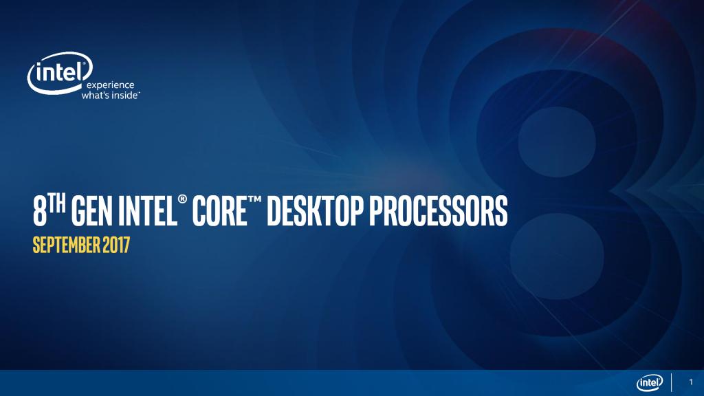 Intel Coffee Lake: 8. Generation der Core i Desktop-CPUs vorgestellt