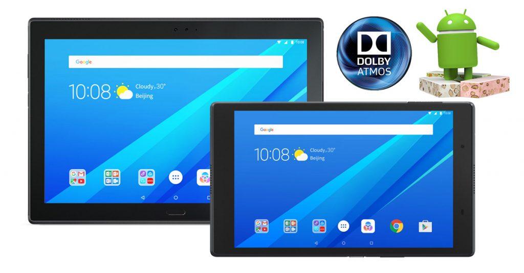 Zwei Lenovo Tab4 Tablets mit Full HD-Display und Dolby Atmos im Test