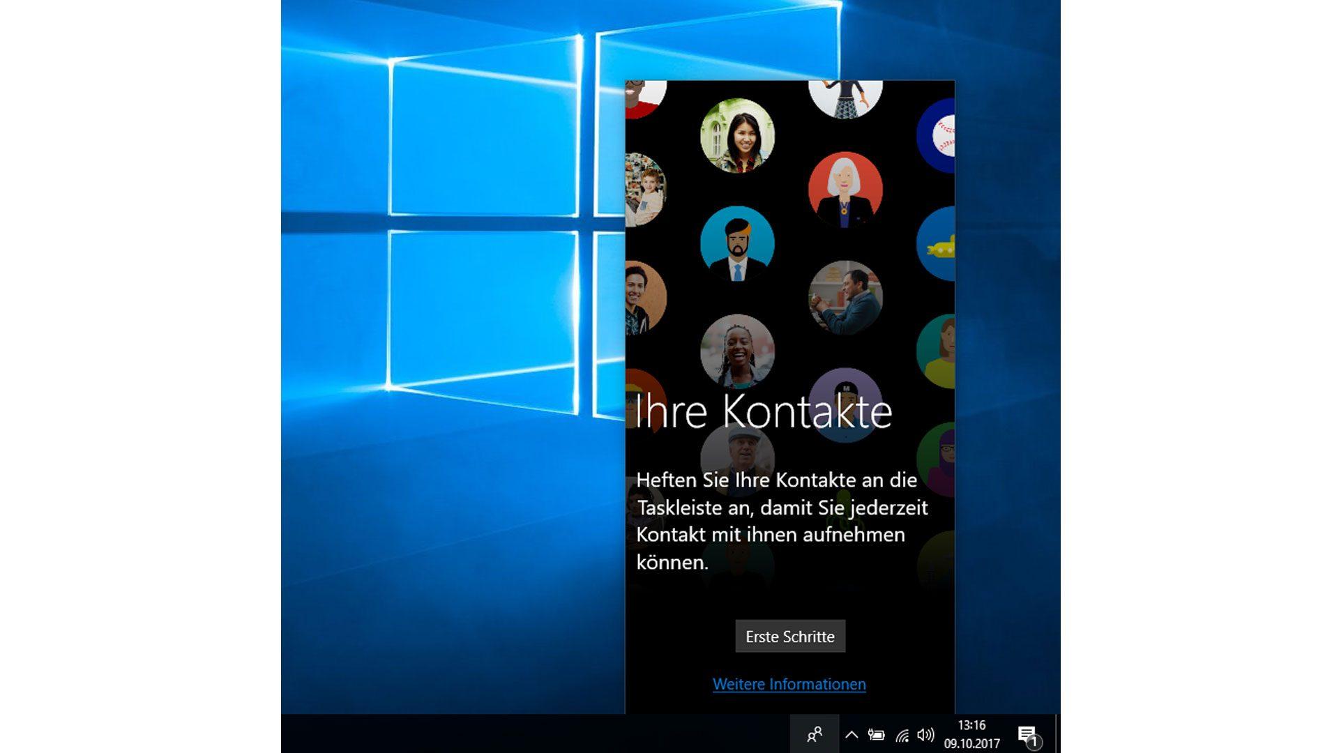 An der Windows-Taskleiste sind nun eure Kontakte angepinnt.