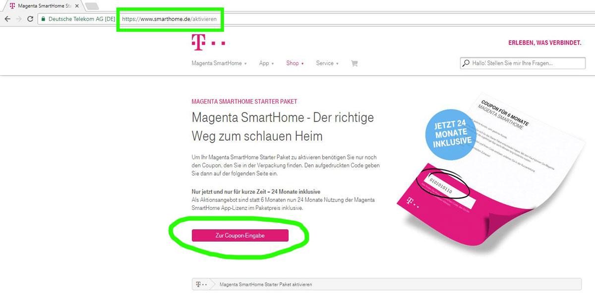 Telekom Magenta Smarthome Starter Paket