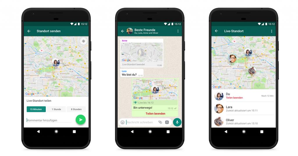 Bei WhatsApp könnt ihr jetzt euren Live-Standort teilen