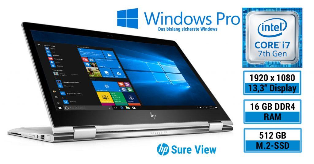 Test: HP EliteBook x360 1030 G2 mit elektronischer Blickschutztechnologie