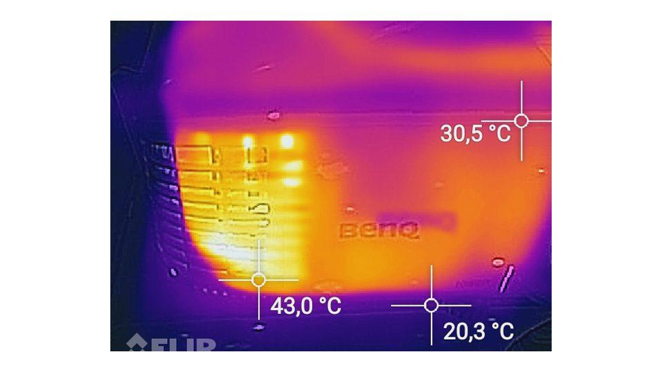 BenQ MH733 Hitze_3