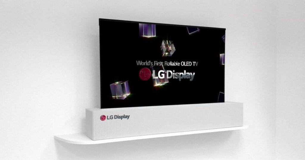 """LG zeigt zusammenrollbaren 65"""" OLED-TV auf der CES 2018"""