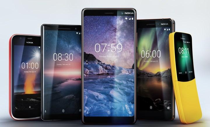 Nokia zeigt auf dem MWC 2018 fünf neue Smartphones