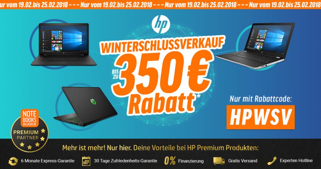 WSV bei notebooksbilliger.de: Kaltes Wetter – Heiße Preise bei ausgewählten HP-Notebooks