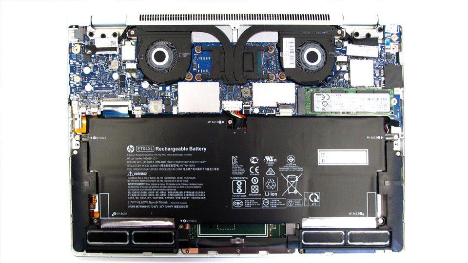 HP EliteBook x360 1020 Innenansicht