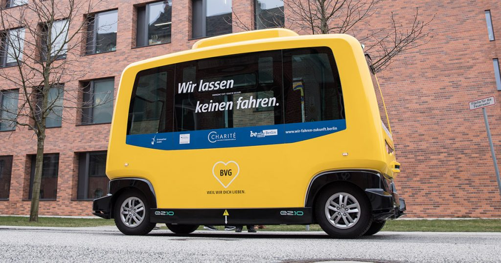 Autonomes Fahren – Fahrerlose Klein-Busse in Berlin
