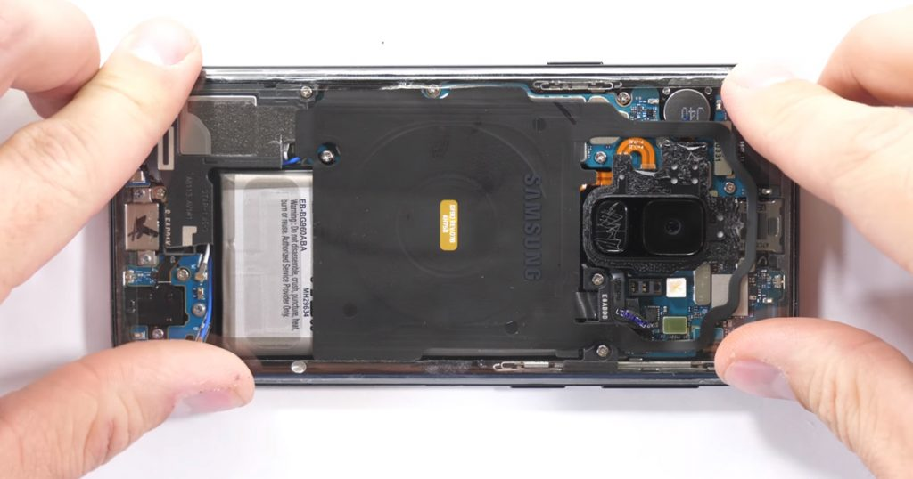 Samsung Galaxy S9 mit transparenter Rückseite
