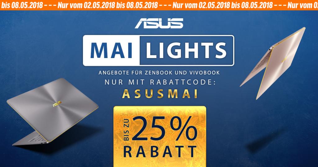 ASUS MAI-Lights – bis zu 25% auf ausgewählte ASUS ZenBooks und VivoBooks sparen