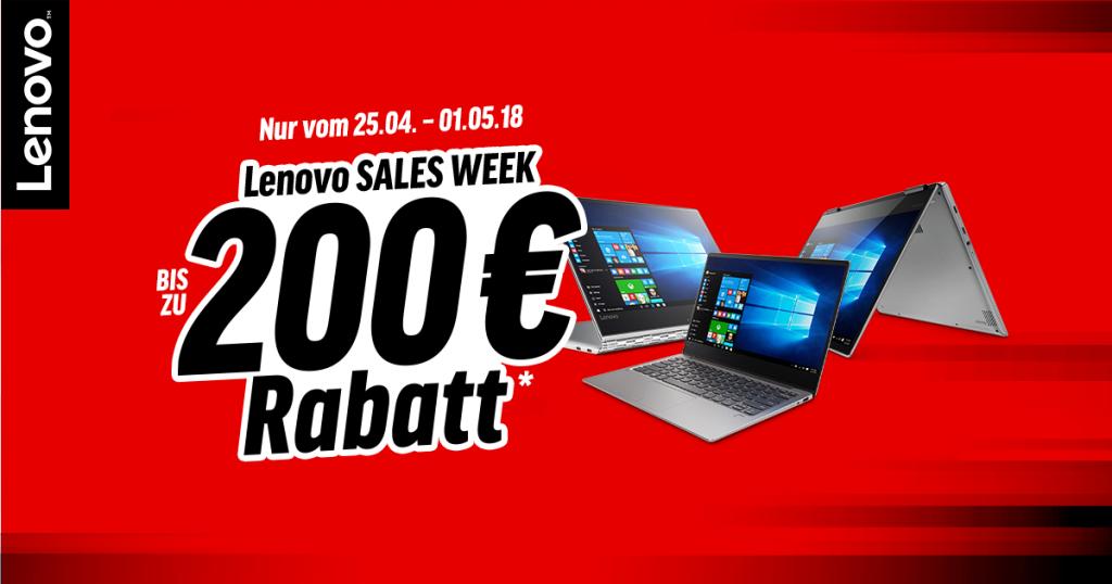 Lenovo Sales Week – bis zu 200 Euro auf ausgewählte Produkte sparen
