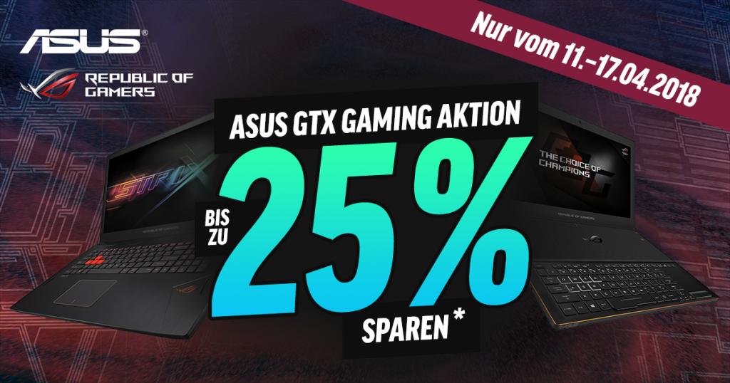 ASUS GTX Gaming Aktion – bis zu 25 % sparen