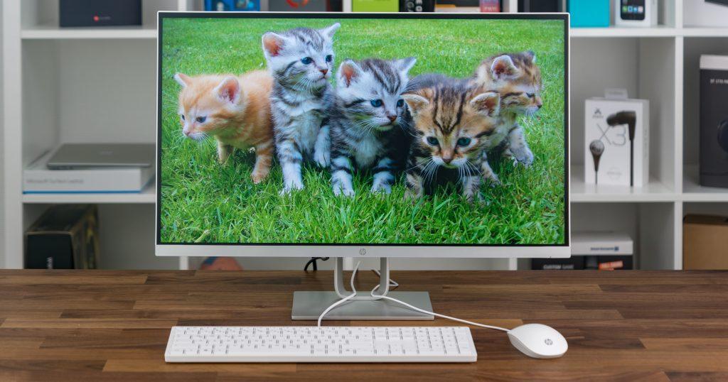 HP Pavilion 27q: stylischer Monitor im zeitlosen Design
