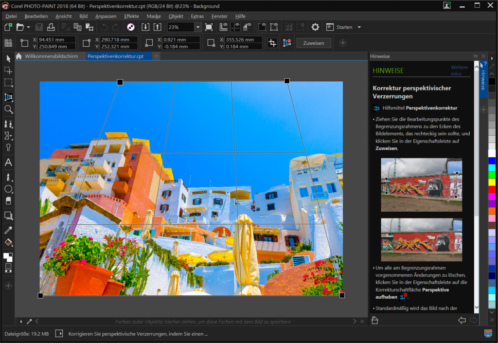 Corel PHOTO-PAINT Perspective_Correction_Tool_Perspektivenkorrektur_klein