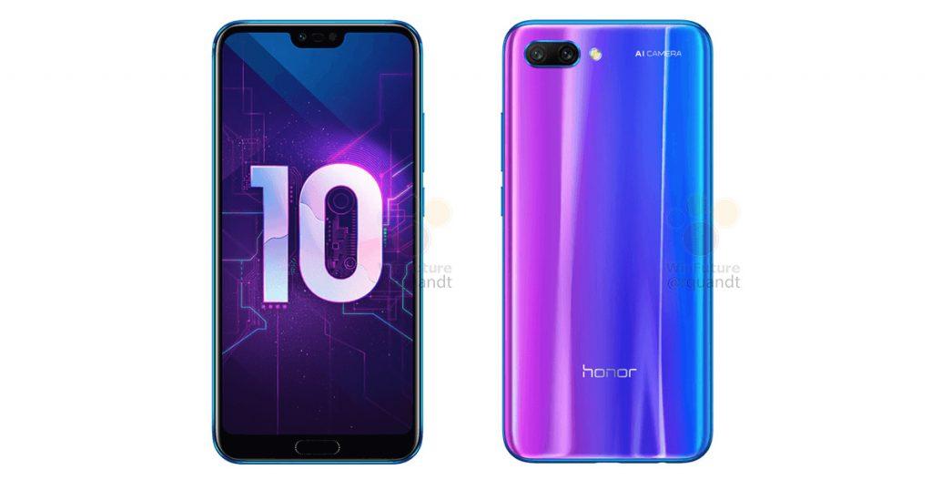 Honor 10: alle Farben und die Specs geleakt