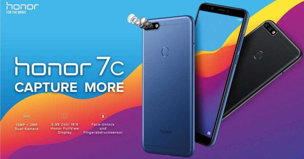 Honor 7C vorgestellt: Dual Kamera-Smartphone für unter 180 €